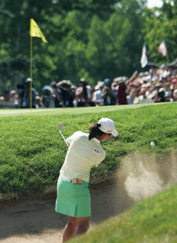 Birdie Kim holed out for birdie at the final hole of the 2005 U.S. Women's Open.