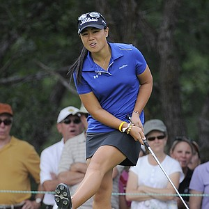 Amateur Danielle Kang reacts as she misses a birdie putt on the 10th hole during the second round of the Women's U.S. Open golf tournament at the Broadmoor Golf Club on Friday, July 8, 2011, in Colorado Springs, Colo.