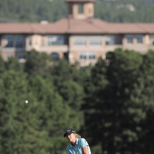 Cristie Kerr chips to the second green as she finishes the delayed second round of the U.S. Women's Open golf tournament at the Broadmoor Golf Club on Saturday, July 9, 2011, in Colorado Springs, Colo.