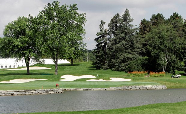 The 16th green at Oakland Hills Country Club