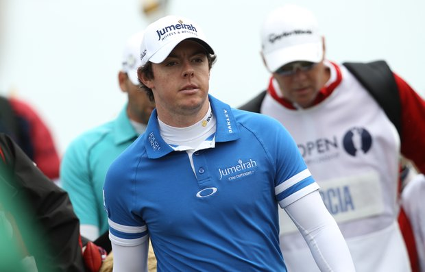 Rory McIlroy is pictured during his final round, on the final day of the 140th British Open Golf championship at Royal St George's in Sandwich, Kent, south east England, on July 17, 2011.
