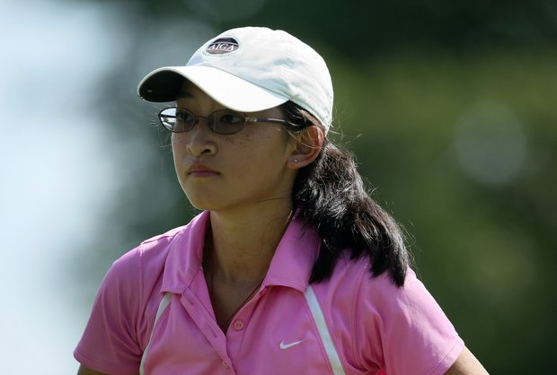 Hana Ku of New Jersey at the 63rd U. S. Girls' Junior Championship at Olympia Fields Country Club.