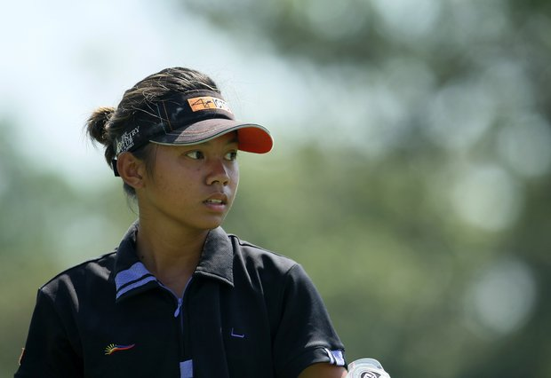 Lou Daniela Uy of the Philippines at the 63rd U. S. Girls' Junior Championship at Olympia Fields Country Club.