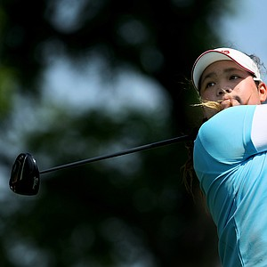 Ariya Jutanugarn of Thailand at the 63rd U. S. Girls' Junior Championship at Olympia Fields Country Club.