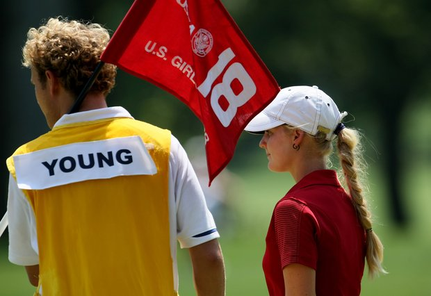 Anna Young at the 63rd U. S. Girls' Junior Championship at Olympia Fields Country Club.