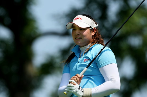 Thailand's Ariya Jutanugarn at the 63rd U. S. Girls' Junior Championship at Olympia Fields Country Club.