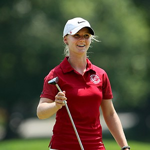 Anna Young of Canada at the 63rd U. S. Girls' Junior Championship at Olympia Fields Country Club.