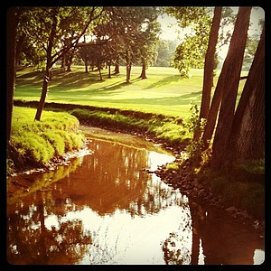 A creek at Olympia Fields CC near holes No. 18 and No. 10.
