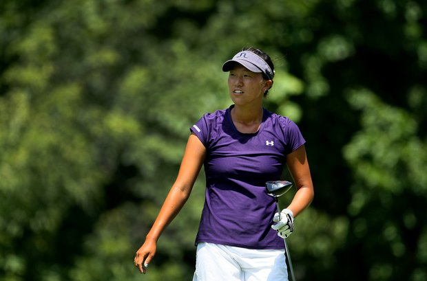 Annie Park during the Round of 64 at the 63rd U. S. Girls' Junior Championship at Olympia Fields Country Club.