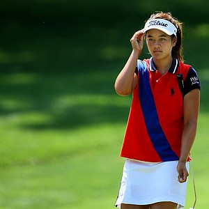 Gabriella Then during the Round of 64 at the 63rd U. S. Girls' Junior Championship at Olympia Fields Country Club.