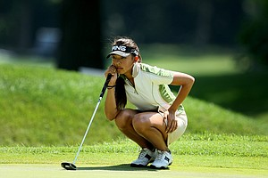 Alison Lee at No. 9 during the Round of 64 at the 63rd U. S. Girls' Junior Championship at Olympia Fields Country Club.