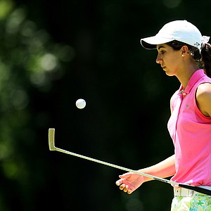 Sophia Schubert during the Round of 64 at the 63rd U. S. Girls' Junior Championship at Olympia Fields Country Club.