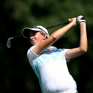 Summar Roachell during the Round of 32 at the 63rd U. S. Girls' Junior Championship at Olympia Fields Country Club.