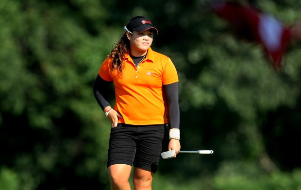 Ariya Jutanugarn during the Round of 32 at the 63rd U. S. Girls' Junior Championship at Olympia Fields Country Club. Jutanugarn advances by defeating Sarah Schmelzel.