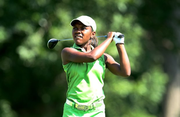 Mariah Stackhouse during the Round of 32 at the 63rd U. S. Girls' Junior Championship at Olympia Fields Country Club.
