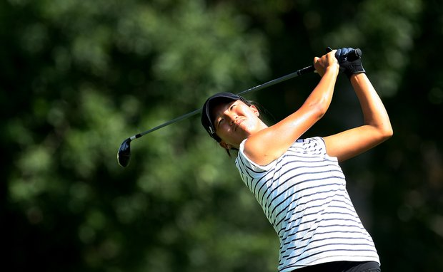 Annie Park during the Round of 32 at the 63rd U. S. Girls' Junior Championship at Olympia Fields Country Club.