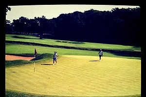 The tees at No. 11 were moved up measuring 260-yards allowing the girls to go for the green at the par-4.