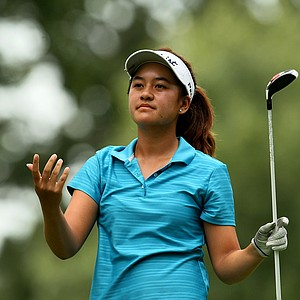 Gabriella Then reacts to a drive during Quarterfinals. She lost to Ariya Jutanugarn.