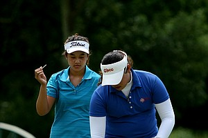 Gabriella Then and Ariya Jutanugarn hit their second shots within inches of each other at No. 15 during Quarterfinals. Jutanugarn birdied to get the match back to all square.