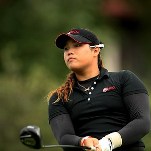 Ariya Jutanugarn at No. 8 during the morning round.