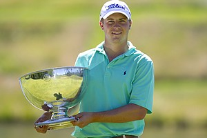 Jordan Spieth after winning the 2011 U.S. Junior Amateur
