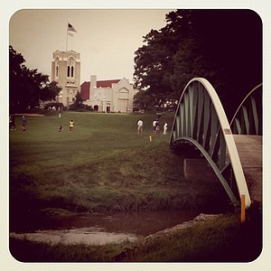 A view of No. 18 during the morning round of the final match at Olympia Fields during the 63rd U. S. Girls' Junior.
