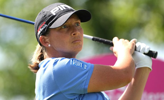 Angela Stanford during the 2011 Evian Masters