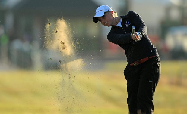 Sophia Popov during Round 1 of the Ricoh Women's British Open at Carnoustie.