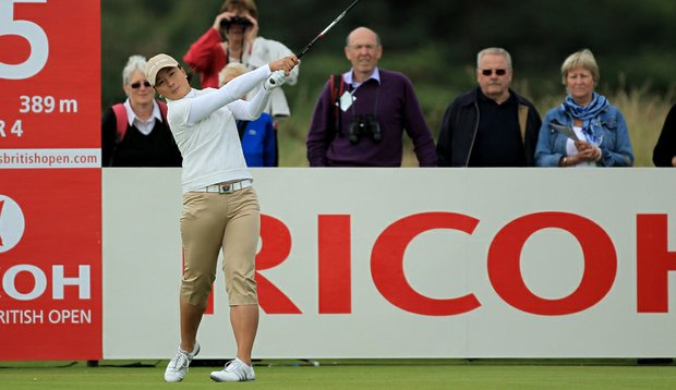 Se Ri Pak tees off during the second round of the 2011 Ricoh Women's British Open at Carnoustie.