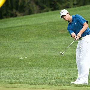 Beau Hossler on the 14th hole during the second round of play at the 36th Junior PGA Championship, at Sycamore Hills Golf Club in Fort Wayne, Indiana, USA, on Wednesday, August 3, 2011.