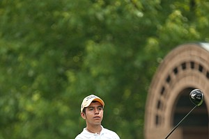 Isaiah Huerta on the 15th hole during the second round of play at the 36th Junior PGA Championship, at Sycamore Hills Golf Club in Fort Wayne, Indiana, USA, on Wednesday, August 3, 2011.