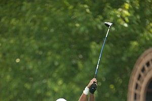 Akash Mirchandani on the 15th hole during the second round of play at the 36th Junior PGA Championship, at Sycamore Hills Golf Club in Fort Wayne, Indiana, USA, on Wednesday, August 3, 2011.