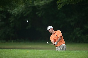 Brian Bullington on the 15th hole during the second round of play at the 36th Junior PGA Championship, at Sycamore Hills Golf Club in Fort Wayne, Indiana, USA, on Wednesday, August 3, 2011.