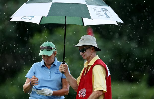 Alexandra Frazier, 53, is one of the oldest competitors at the Wome's Amateur Championship.