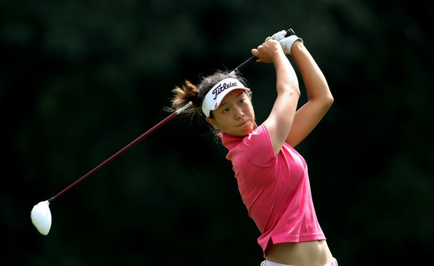 Cindy Ha during Monday stroke play of the U. S. Women's Amateur Championship at Rhode Island Country Club in Barrington, Rhode Island.