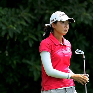 Doris Chen at No. 17 during Monday stroke play of the U. S. Women's Amateur Championship at Rhode Island Country Club in Barrington, Rhode Island.
