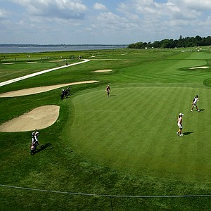 Hole No. 16 during Monday stroke play of the U. S. Women's Amateur Championship at Rhode Island Country Club in Barrington, Rhode Island.