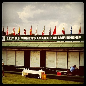 The leaderboard for the 111th U. S. Women's Amateur Championship.