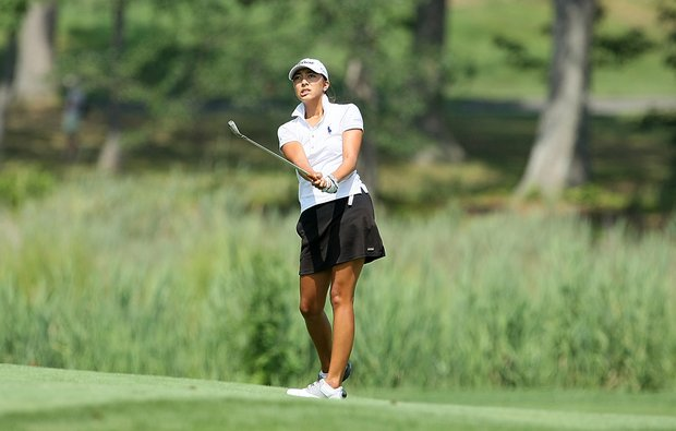 Alison Lee during Tuesday stroke play of the U. S. Women's Amateur Championship at Rhode Island Country Club in Barrington, Rhode Island.