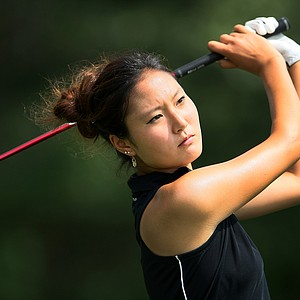 Kristen Park during Tuesday stroke play of the U. S. Women's Amateur Championship at Rhode Island Country Club in Barrington, Rhode Island.