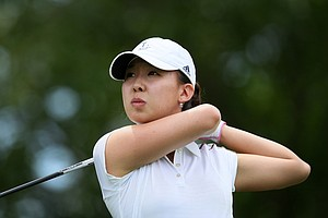 Nicole Zhang during Tuesday stroke play of the U. S. Women's Amateur Championship at Rhode Island Country Club in Barrington, Rhode Island.