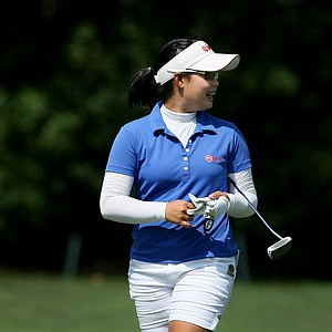 Moriya Jutanugarn posted a 67 during Tuesday stroke play of the U. S. Women's Amateur Championship at Rhode Island Country Club in Barrington, Rhode Island.