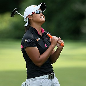 Cyna Rodriguez leaves her putt on the lip at No. 18 to lose to Amy Anderson during the Round of 64.