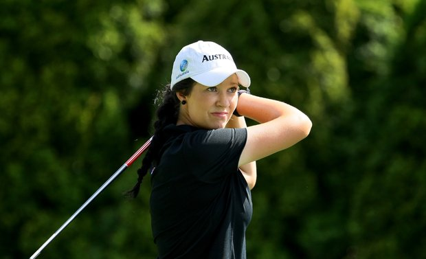 Breanna Elliott of Australia during the Round of 64 at the U. S. Women's Amateur Championship at Rhode Island Country Club in Barrington, Rhode Island. Elliott lost to Brooke Pancake.