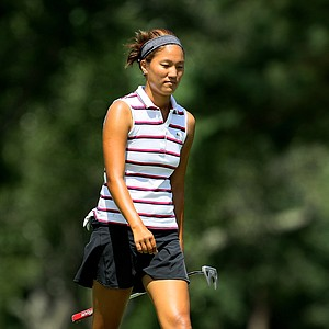 Annie Park went 24-holes to defeat Calle Nielson during the Round of 64 at the U. S. Women's Amateur Championship at Rhode Island Country Club in Barrington, Rhode Island.