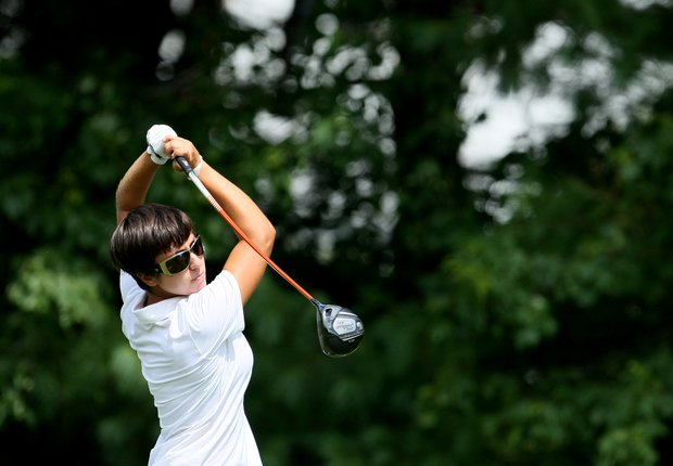 Marina Alex during the Round of 64 at the U. S. Women's Amateur Championship at Rhode Island Country Club in Barrington, Rhode Island.