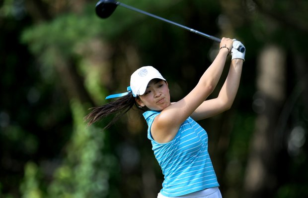 Tiffany Lua during the Round of 16. Lua lost to her UCLA teammate Stephanie Kono.