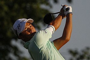 Ryo Ishikawa, of Japan, hits a drive on the 10th hole during the first round of the PGA Championship golf tournament Thursday, Aug. 11, 2011, at the Atlanta Athletic Club in Johns Creek, Ga.