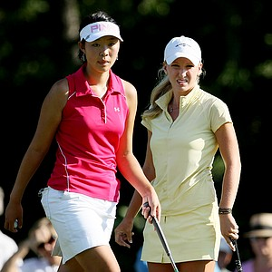 Brooke Pancake, right, defeated Erynne Lee in 21-holes during the Quarterfinals.