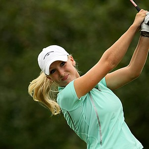 Brooke Pancake during the semifinals at the U. S. Women's Amateur Championship at Rhode Island Country Club in Barrington, Rhode Island.